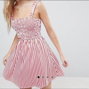 ASOS Candy Cane Striped SmockNeck Sleeveless dress